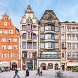 People walking on Main Market Square in Wroclaw. Stock Photography