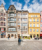People walking on Main Market Square in Wroclaw. Stock Images