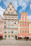 People walking on Main Market Square in Wroclaw. Stock Image