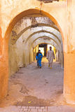 People walking in the medina in Fes Morocco Royalty Free Stock Photo