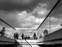 People walking on the Millennium Bridge London Royalty Free Stock Image