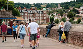 People walking in Minehead Stock Image