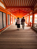 People walking at Miyajima Shrine Stock Photography