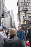 People walking in 42nd Street Royalty Free Stock Images