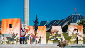 People Walking Near Building Belorussian Museum Of The Great Pat Royalty Free Stock Photos
