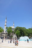 People walking near Eyup Sultan Mosque in Istanbul Royalty Free Stock Image