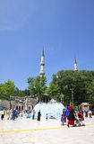 People walking near Eyup Sultan Mosque in Istanbul Royalty Free Stock Photo