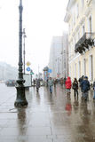 Snowstorm in Saint-Petersburg Royalty Free Stock Image
