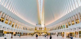 People walking through the Occulus at World Trade Center Stock Images