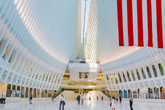 People walking through the Occulus at World Trade Center Stock Photo