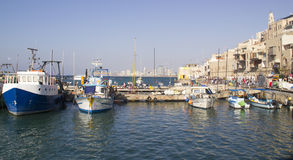 People walking in old Jaffa Port .Israel Royalty Free Stock Photography