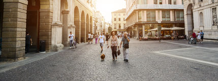 people walking in Padua - Italy Royalty Free Stock Photo