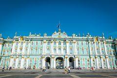 Winter Palace Hermitage Museum in Saint Petersburg, Russia. royalty free stock images