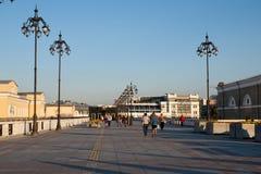 People walking on Patriarshy Bridge Royalty Free Stock Image