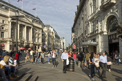 People walking in Piccadilly Circus Stock Photo