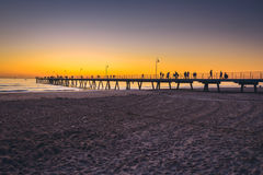 People walking on pier Royalty Free Stock Photography