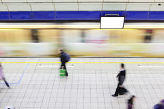 People walking on platform at metro station Stock Photography