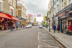 People walking in Portobello Road, Notting Hill, London Stock Photo