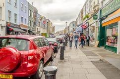 People walking in Portobello Road, Notting Hill, London Royalty Free Stock Photos