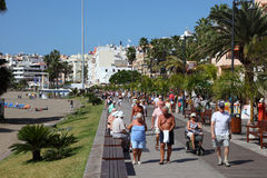 People walking on the promenade Royalty Free Stock Photos
