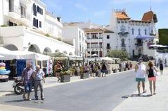 Promenade of Cadaques Royalty Free Stock Image