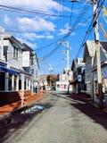 People walking on Provincetown street royalty free stock image