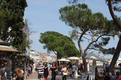 People walking on Riva degli Schiavoni, Venice Royalty Free Stock Photo