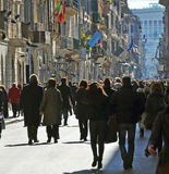 People walking in rome Stock Photography
