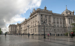People walking in the royal palace of Madrid Royalty Free Stock Photos