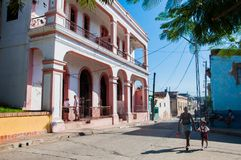 People walking in Santiago de Cuba Royalty Free Stock Photography