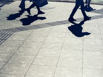 People walking on street Urban city lifestyle Background royalty free stock image