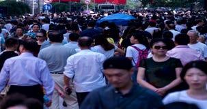 Crowd people, 4k timelapse stock video footage