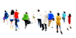 People Walking Shopping Retail Market Sale Consumer Concept.  royalty free stock photo