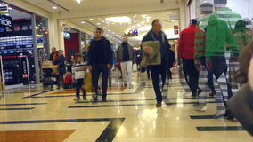 People walking and shopping time lapse stock video footage