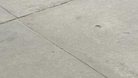 People walking by on sidewalk stock footage