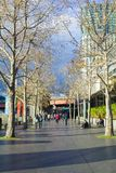 People walking in Southbank in Melbourne near sunset Stock Photo