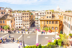 People walking in the Spanish steps, in the Piazza di Spagna Stock Photography
