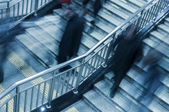 People walking on the stair. In subway station Stock Photography