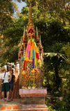 People walking at stairs entrance to Wat Phra That Doi Suthep. Here are 300 steps Royalty Free Stock Images