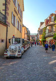 People walking on a street in Alsace Royalty Free Stock Photography
