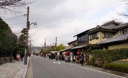 People walking on street at Arashiyama district in Kyoto, Japan Stock Photo
