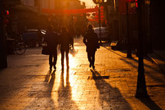 People walking on the street Stock Photography