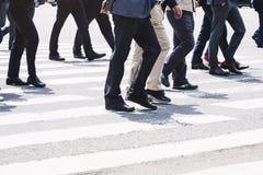 People walking on street Business Man city lifestyle Stock Image