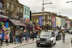 People walking on street in Camden Town London Royalty Free Stock Photo
