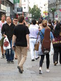 People walking in a street of the city centre Stock Photo