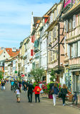 People walking on a street in Colmar Royalty Free Stock Photo