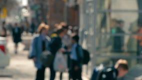 People walking on the street, crowded street stock video