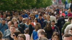 People Walking The Street stock video