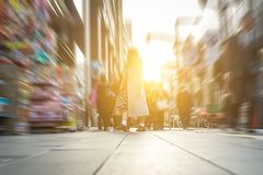 People walking on the street. floor view. Royalty Free Stock Images