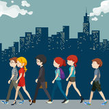 People walking on the street Royalty Free Stock Image